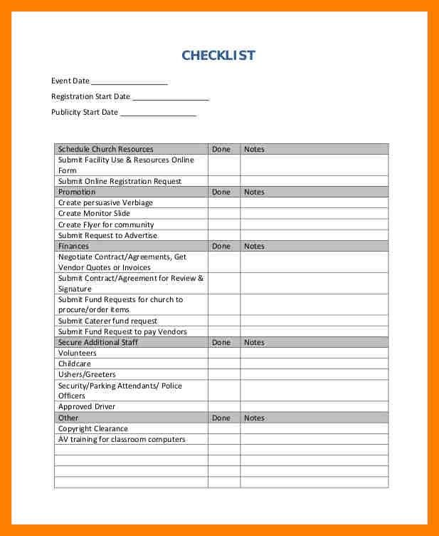 Sample Event Planning Checklist. Event Planning Checklist Sample ...