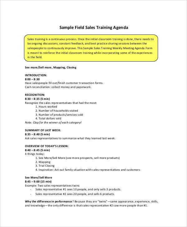 Free Agenda Sample   40+ Examples In Word, PDF
