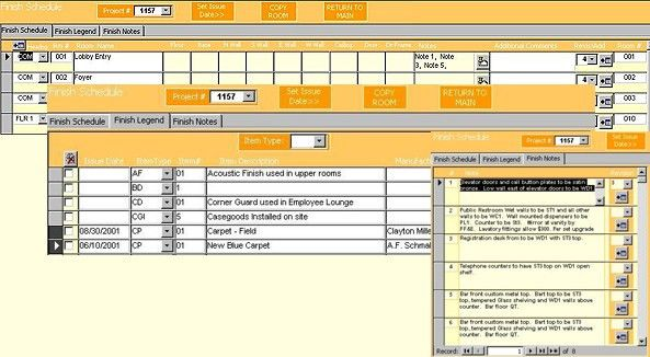 Finish Schedules-Interior Design Furniture Specification Software