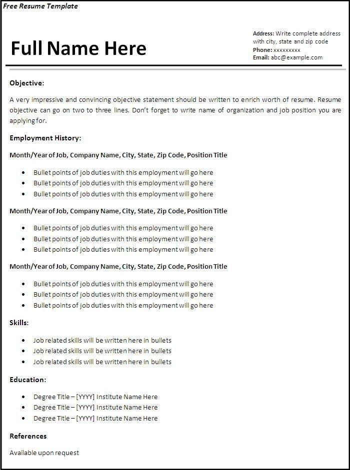 2014 resume template free cv templates 163 to 169 freecvtemplate ...