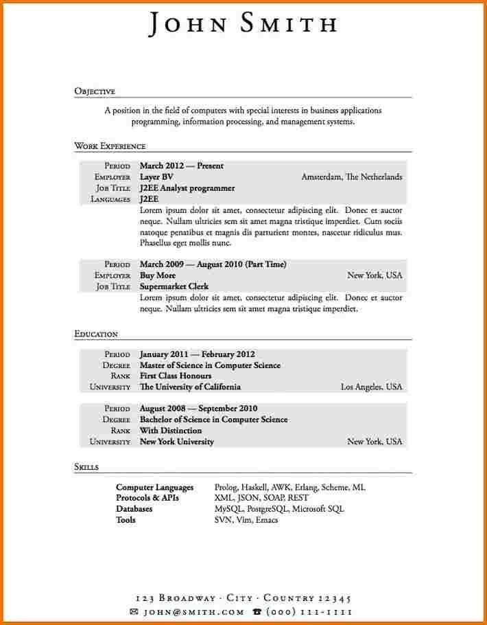 Download First Resume Template | haadyaooverbayresort.com