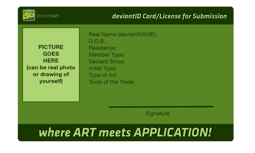 deviantART ID Card (Original Blank Version) by FirePhantasma on ...