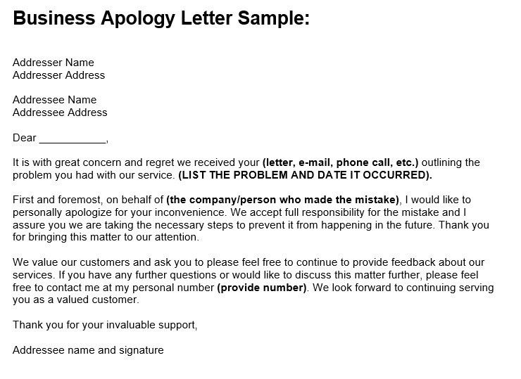 Business apology letter pasoevolist business apology letter spiritdancerdesigns