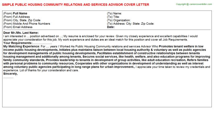 Public Housing Community Relations And Services Advisor Job Title Docs