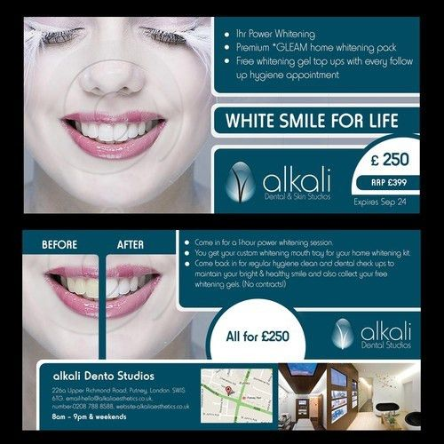 New flyer design wanted for teeth whitening promotion | Print or ...
