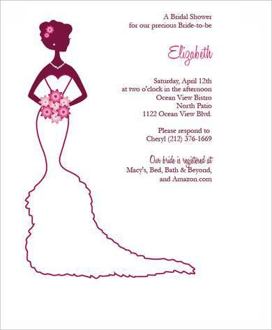 Bridal Shower Invitation Template - plumegiant.Com