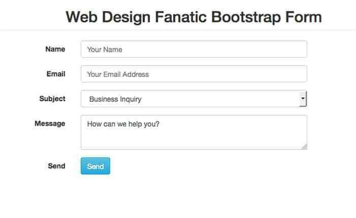Free Simple Bootstrap Contact Form Template - Web Design Fanatic