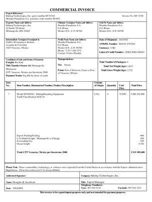 Commercial Invoice (UCP 600 Article 18)   Trade Samaritan