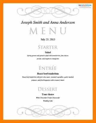 10+ free menu template for word | sephora resume