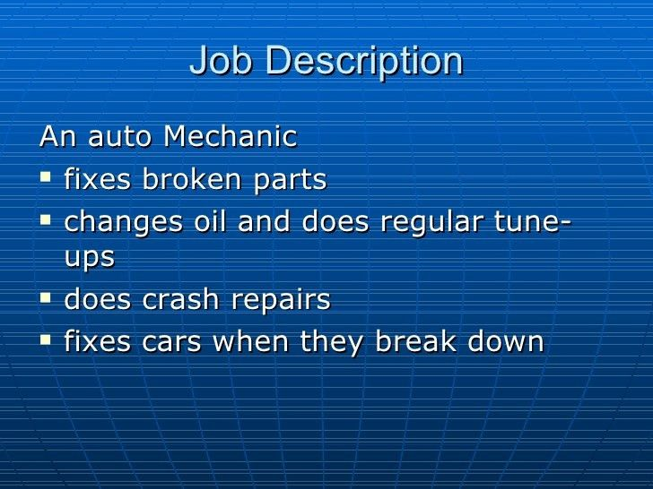 automotive service technicianmechanic education job description ...