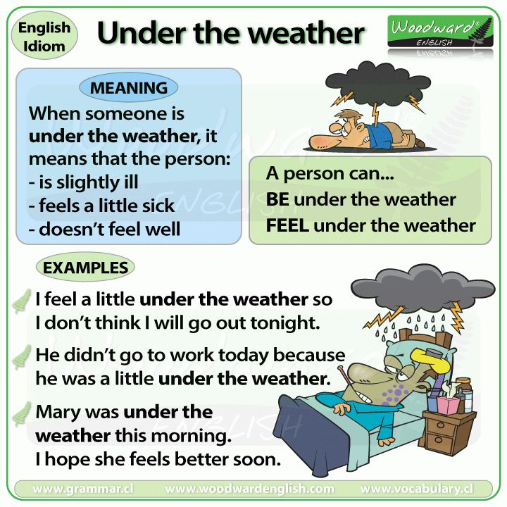 Under the weather – idiom | Woodward English