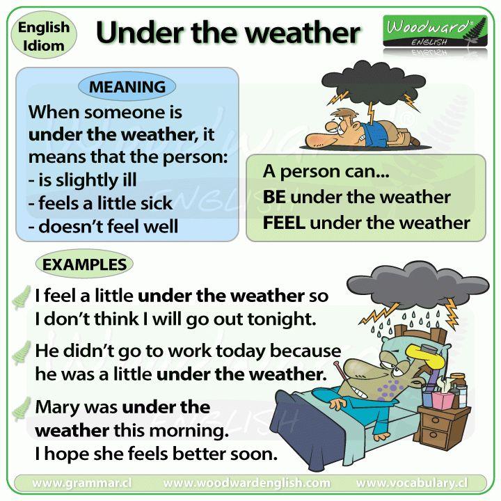 Under the weather – idiom | Woodward English