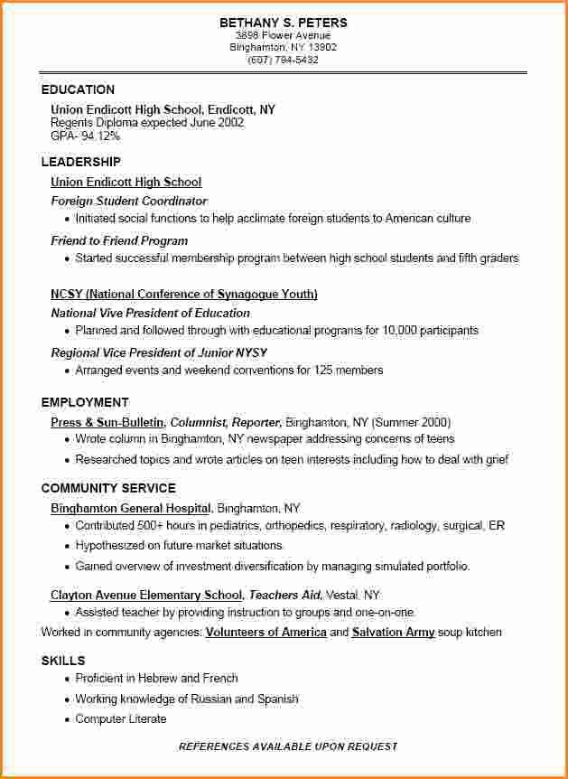 School resume sample high school student / Resume format patent