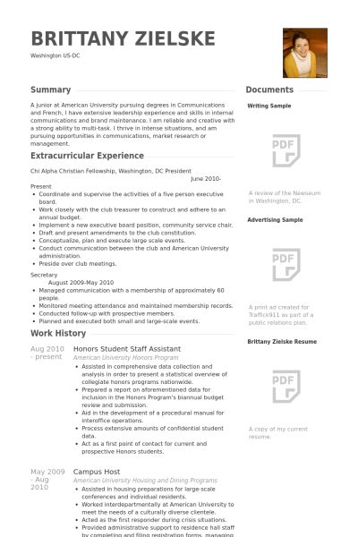 Honors Resume samples - VisualCV resume samples database