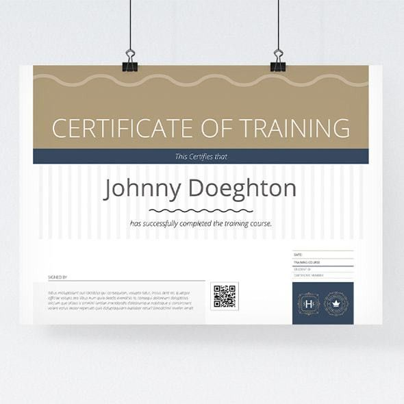 Certificate of Training US Letter Template