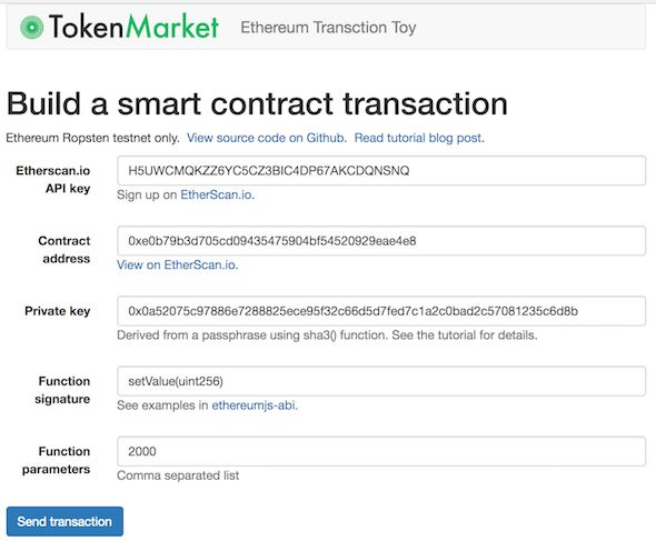 Programming Ethereum smart contract transactions in JavaScript