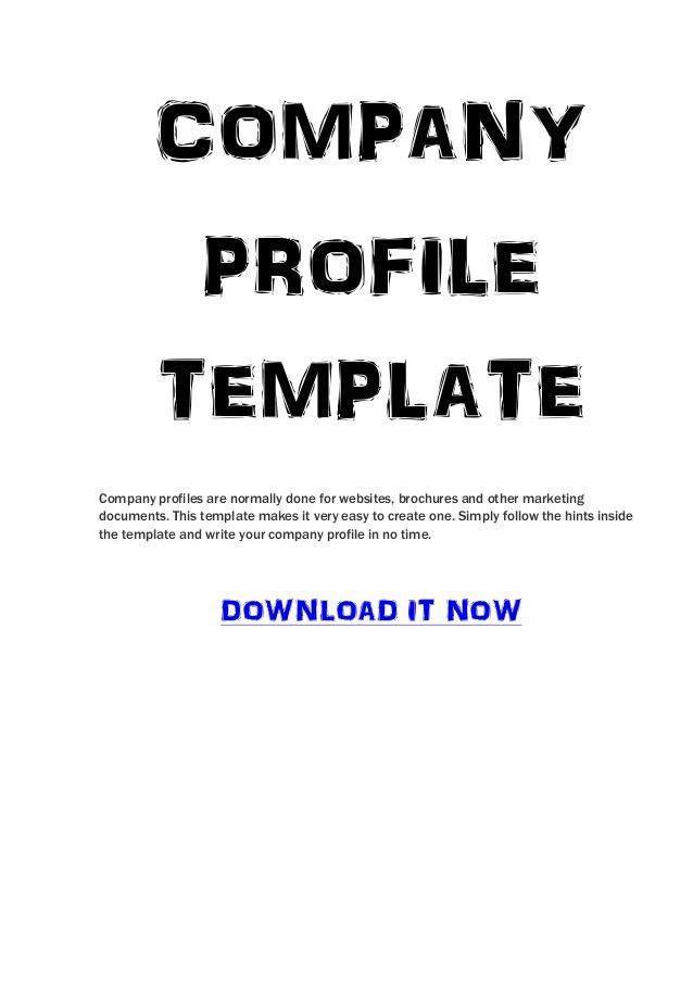 Sample Resume Ict Company Profile Template - Corpedo.com