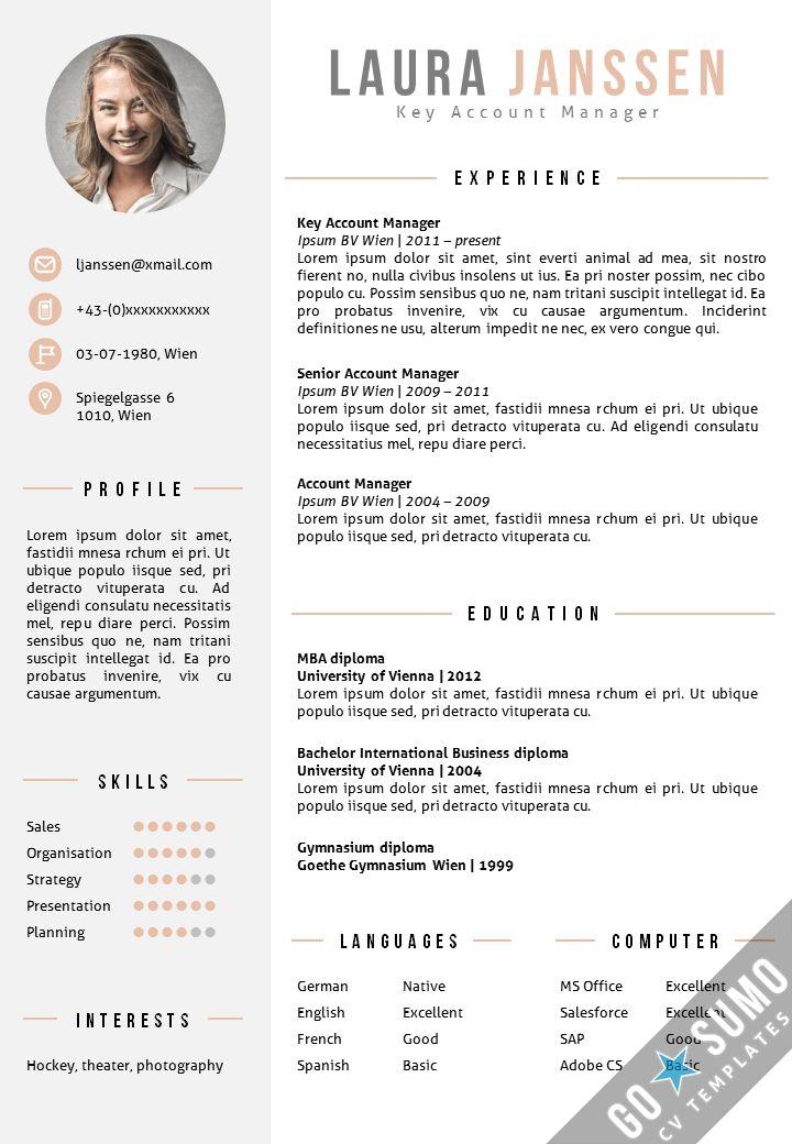 CV Template Vienna - Go Sumo cv template
