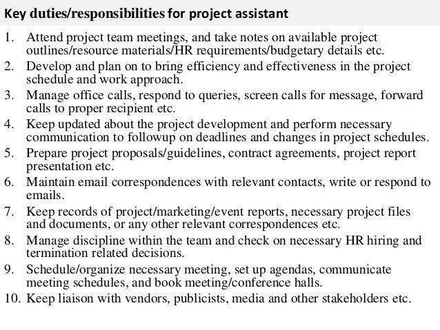 Assistant Director Job Description. Job Description For Assistant ...