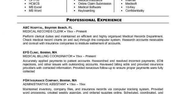 Medical Billing And Coding Internship Resume Samples Medical ...