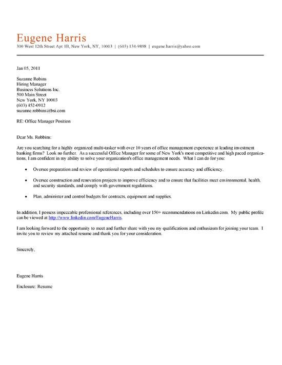 examples of cover letters for resumes httpwwwresumecareerinfo ...