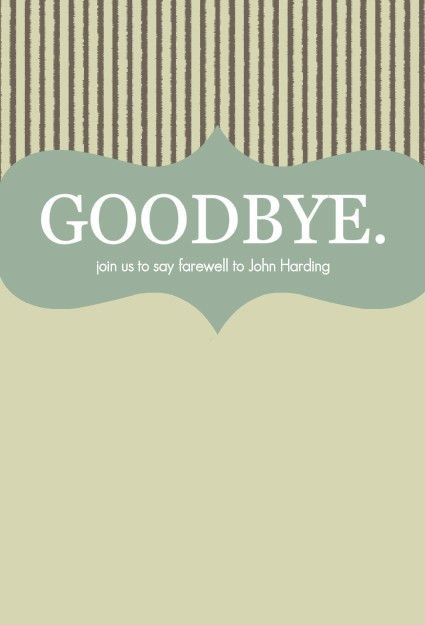 8 Best Images of Printable Goodbye Card Template - Free Farewell ...