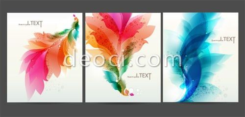3 files cover the background design template material colorful ...