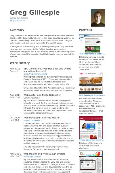 Online Marketing Specialist Resume samples - VisualCV resume ...