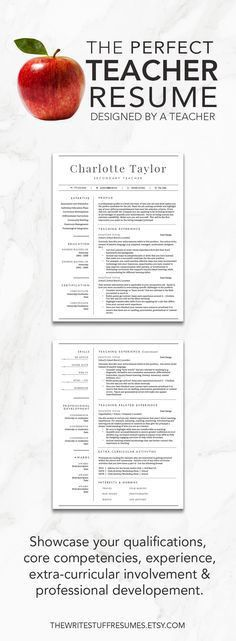 Teacher Resume Examples | Education Sample Resumes | LiveCareer ...