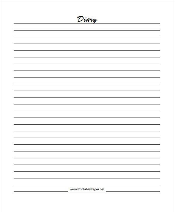 Diary Paper Template, best 25+ food journal printable ideas only ...