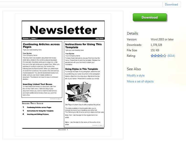 Microsoft Word Templates Newsletter | TeamTracTemplate's