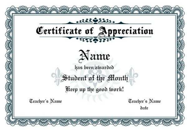 Certificate of Appreciation Templates | Sampleprintable.com