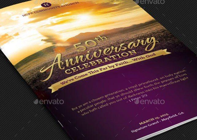 Church Anniversary Service Program Template | Godserv
