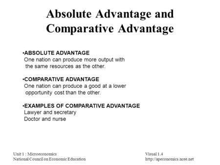"""Module 4-""""Comparative Advantage and Trade"""" - ppt video online download"""