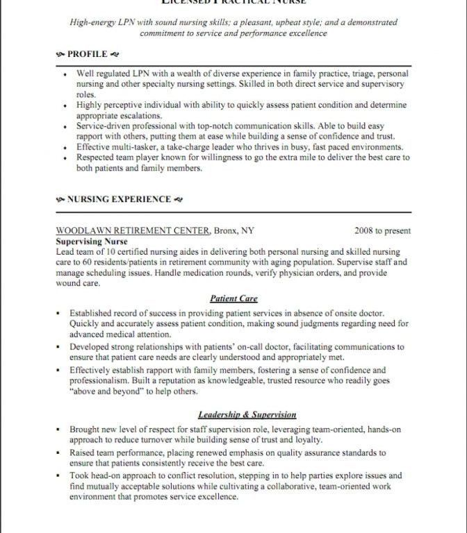 Lpn Sample Resume, pleasing resume lpn cv cover letter lvn sample ...