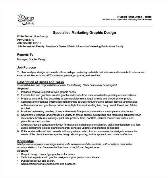 graphic designer responsibilities