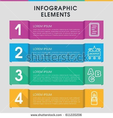 Simple Vector Numbered List Infographic Template Stock Vector ...