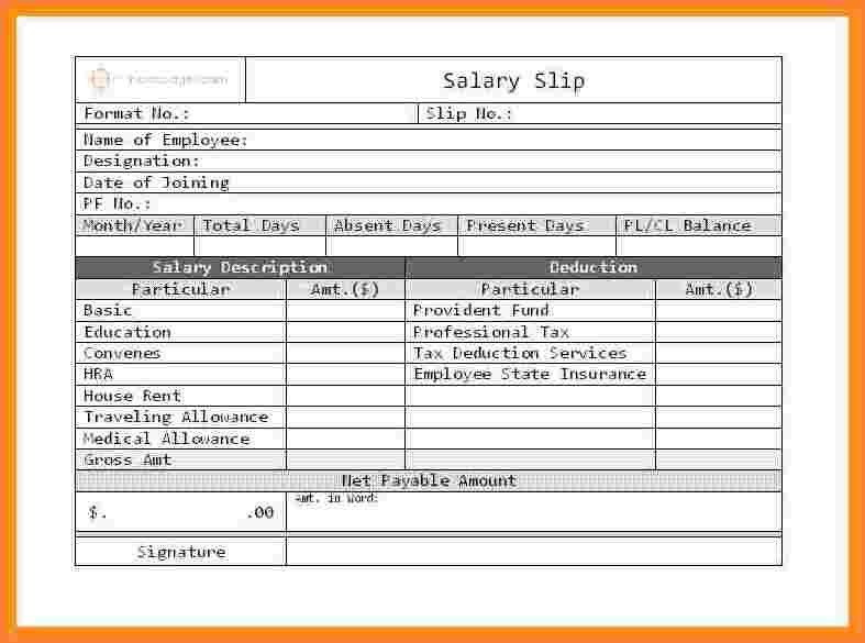 Stunning Employee Payslip Template Excel Pictures - Best Resume ...