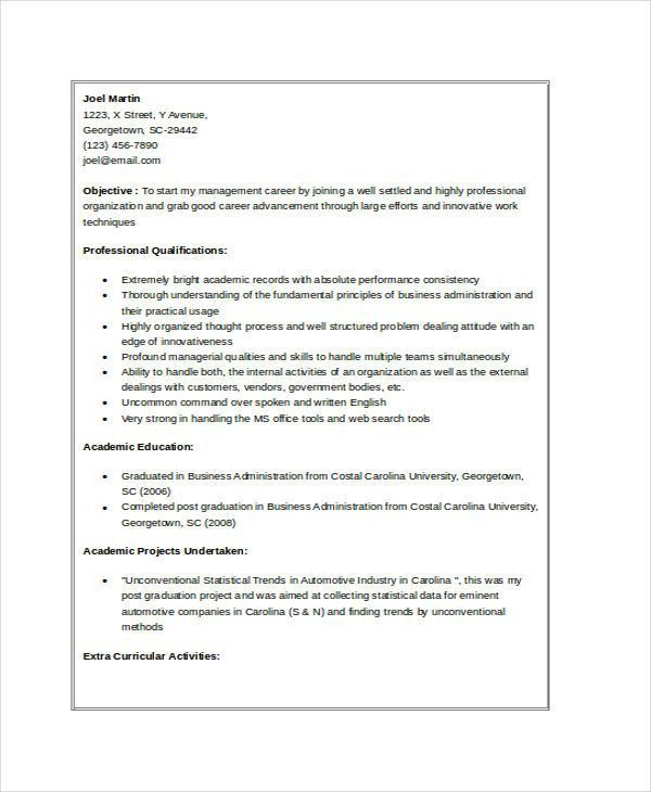 Professional Resume Template Free Download. Good Resume Examples ...