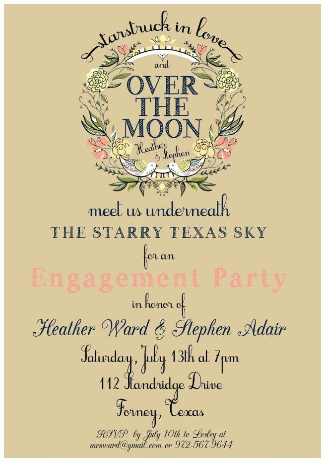 A Picture Perfect Engagement Party - Uniquely Yours Wedding Invitation