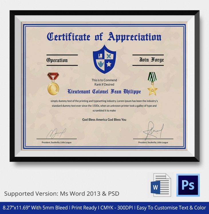 Certificate of Appreciation - PSD & Word Designs | Design Trends ...