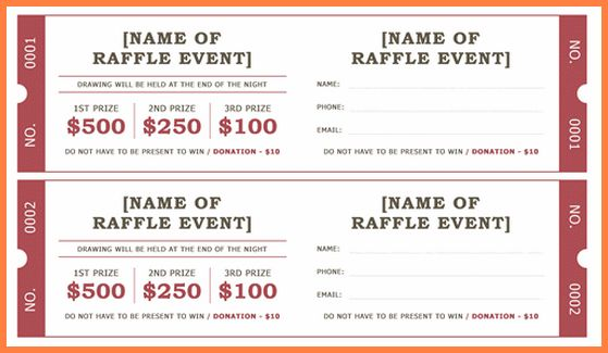 raffle tickets template word - Sales Report Template