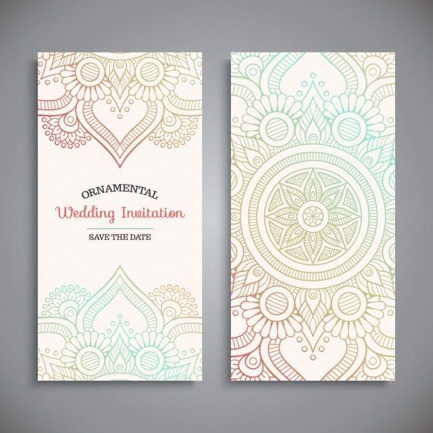 Wedding invitation design Vector | Free Download