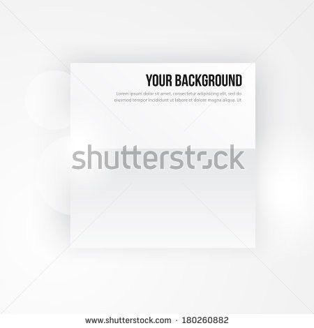 White Horizontal Paper Template Mockup Drop Stock Vector 292023323 ...