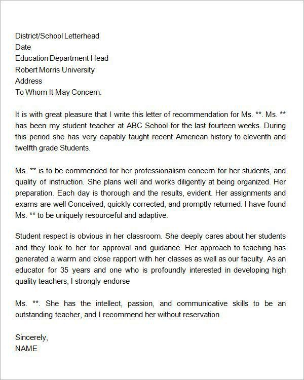 Letter-of--Recommendation-for-Student | immigration process ...