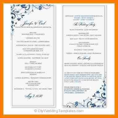 10+ wedding program template word | monthly budget forms