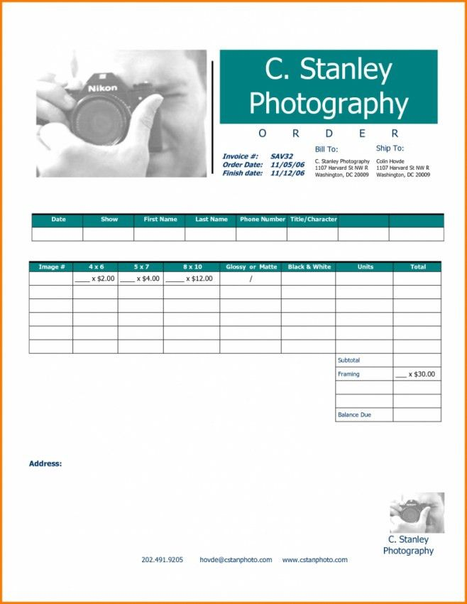 Photography Invoice Template. Invoices Don'T Need To Be Boring ...