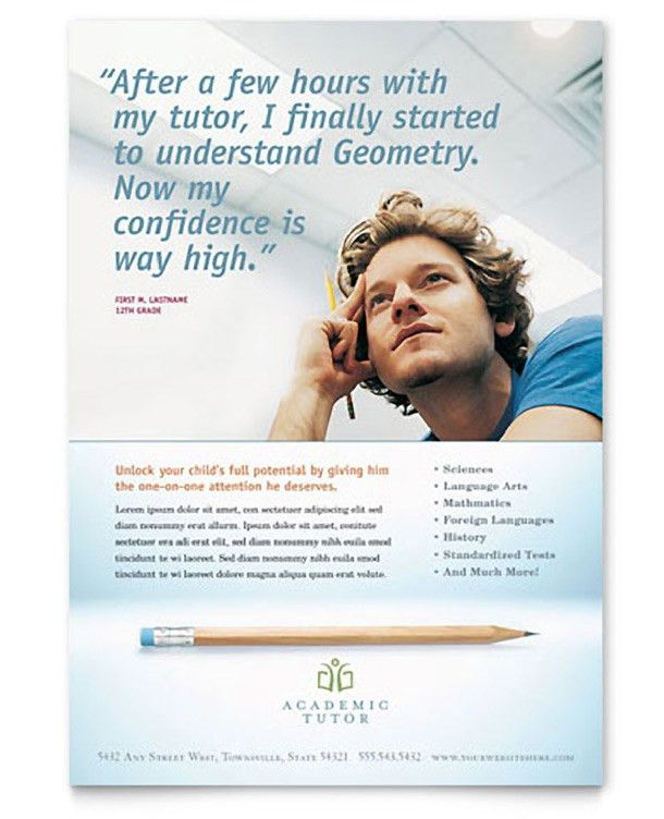15 Cool Tutoring Flyers - Printaholic.com
