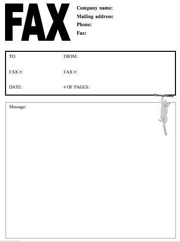 Blank Fax Cover Letter 2016 - SampleBusinessResume.com ...