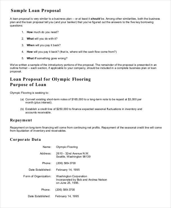 Business Proposal Example. Business-Loan-Proposal-Letter Sample ...
